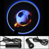Car LED door light  Football soccer Ghost Shadow Light LOGO Decoration door prejection welcome light Free HK Post
