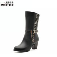 2013 high-heeled shoes thick heels medium-leg boots martin boots 3056 - 9