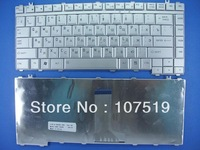 Free Shipping New Russian keyboard for Toshiba Satellite A200 A205 A215 M200 L200 L305 Silver  RU Version
