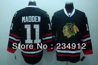 Men's Hockey 11 Chicago Blackhawks 11 John Madden Black Jerseys-Authentic Cheap NHL Jerseys