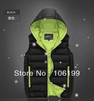 Free shipping Autumn and winter cotton down male female vest thickening plus size vest thermal vest lovers kaross outerwear male