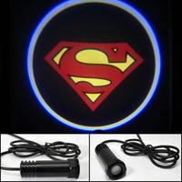 Car LED door light Superman Super man Shadow Light LOGO door prejection Free HK Post
