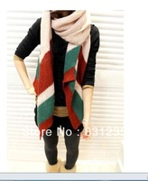 Fashion  Super Warm  Wool Scarves Korea Long Korean Retro Winter Day Lovers Scarf Bib For Women and Girl  B672