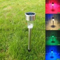 2014 Luminaria De Jardim 8pcs Solar Power Led Stainless Steel Spot Light Landscape Outdoor Path Lawn Lamp for Garden Drcorative