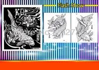 "Free shipping KOI Carp Fish Japan Horimouja Jack Mosher Japanese style tattoo Flash Book 11"""