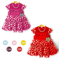 Beautiful little short sleeve chiffon dress fashion  5sets/lot