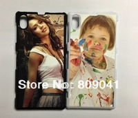 DIY sublimation blank plastic phone case for Sony Xperia Z1 L39h with metal plate and Glue  free shipping 20pcs/lot