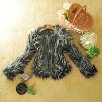 2013 autumn and winter women fashion design thermal plush faux short jacket