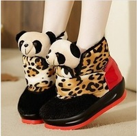 New arrived Panda shoes  Large base increased in cotton shoes  sweet winter shoes cute short boots snow boots free shipping