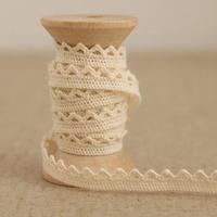 1 Yard 0.7cm Lovely Designed Cotton Lace Embroidery Beige Lace Trim Ribbon No. L1