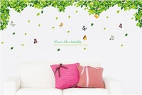 love is like a butterfly DIY  Pastoral style Aestheticism creative wall stickers Bedroom bedroom living room Decorative stickers