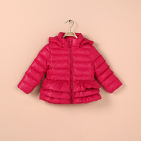 Export to France 2013 Newest Child involucres with a hood down coat child wadded jacket girls cotton-padded jacket outerwear
