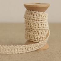 1 Yard 1cm Lovely Designed Cotton Lace Embroidery Beige Lace Trim Ribbon No. L1