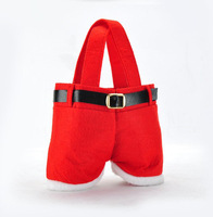 Free shipping Santa Pants Christmas Gifts Decoration Xmas Wedding Candy Bags Lovely Gifts For Children