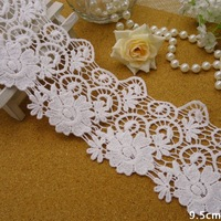 Free shipping! 9.5 cm lace white cotton water soluble lace DIY accessories in Europe