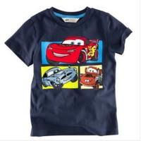 New boy t shirt 2014 Children Tops Tees Summer Wear Short Sleeve T-shirts children clothes cartoon tshirts
