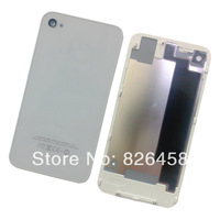 Hot Sell  Glass Battery Cover case door Back Housing for Iphone 4 4G Replacement Spare Part free shipping
