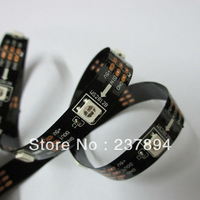 5M 300 LEDS black PCB 5050 RGB LED Strip Light non-waterproof Magic Dream Color WS2812B WS2811 Individual Addressable  5V DC