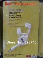 Free shipping Brand New Metal Head Handsfree 3.5MM In-ear earphone for MP3/MP4/ DJ headphones High Quality