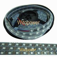 5M 300 LEDS black PCB 5050 RGB LED Strip Light tube waterproof Magic Dream Color WS2812B WS2811 Individual Addressable  5V DC