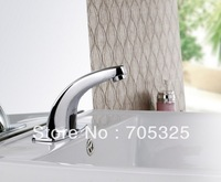 Chrome Hot Cold Mixer  Free Sensor Faucet Bathroom Sink   Automatic Hand Touch Tap ys4711k