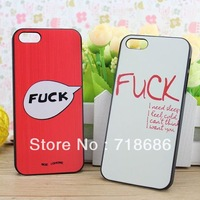 Hot selling Fuck design case cover for iphone 4 4s telephone cases covers to iphone4 retail&wholesale free shipping