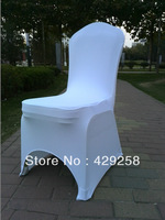 Russian Free Shipping 50pcs White Standard Spandex Chair cover,Lycra Chair Cover