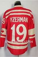 Free Shipping,Wholesale Ice Hockey Jersey, #19 Steve Yzerman 2014 Winter Classic Hockey jersey,Embroidery logos,size 48-56
