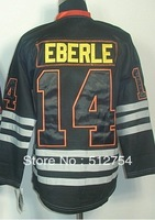Free Shipping,Wholesale Ice Hockey Jersey,#14 Eberle Ice Black jersey,Embroidery logos,size 48-56,mix order