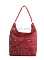messenger bag woman  Fashion Shoulder Zipper Diamond