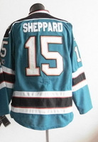 Free Shipping,Wholesale Ice Hockey Jersey, #15 James Sheppard men's Hockey jersey,Embroidery logos,size 48-56,mix order