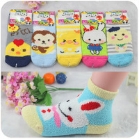 Cartoon children socks autumn and winter cotton short 100% 39 knee-high socks