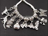 Wholesale - MIC Mixed 120pcs Dangle Pendant Charms Beads Fit European Bracelet Jewelry DIY 13021121