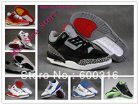 8 Color Free Shipping 2014 Newest Mens Air 3 Basketball Shoes Top Quality Athletic Sports Shoes Euro 40-47