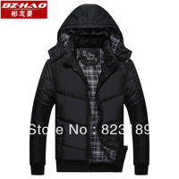 Bz-hao 2013 men's autumn and winter clothing outerwear casual male wadded jacket thickening cotton-padded jacket cotton-padded