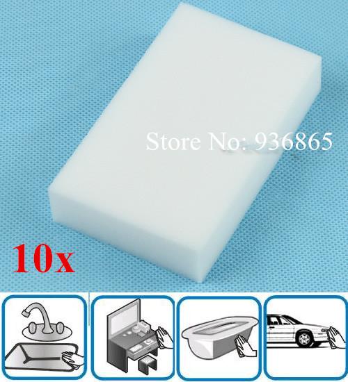 10PCS Magic Multi Sponge Clean Foam Cleaner Cleansing Eraser Car Wash Kitchen(China (Mainland))