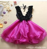 The new spring/summer 2014 women v-neck agaric organza lace evening dress \ bitter fleabane bitter fleabane skirt -free shipping