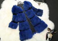 New Winter Genuine Fox Fur Jacket Fashion Women Fox Fur Coat Winter Warm TP9066