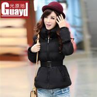 Light 2013 winter thickening outerwear short design cotton-padded jacket female lantern sleeve cotton-padded jacket wadded