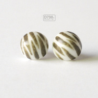 Zebra Hand-painted earrings / Original ceramic jewelry / Gift