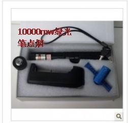 Free shipping new arrival 2014High power 10000mw green laser pen green flashlight(China (Mainland))