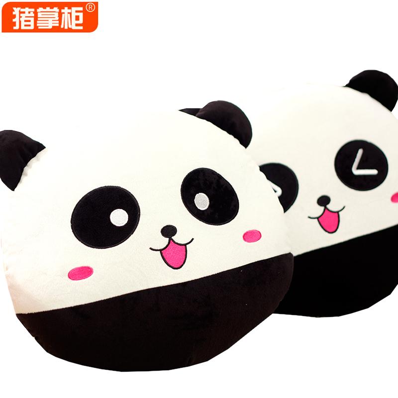 Porco travesseiro preto e branco de pelúcia bonecas de brinquedo bonecas grandes casado aniversário dom feminino 40X 40 centímetros 0,5 kg(China (Mainland))