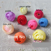 100p Dia. 3.5cm Artificial Simulation Silk Camellia Rose Flower Head Wedding Christmas Party Diy Jewelry Brooch