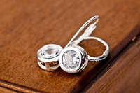 1 pair dropshipping genuine 925 sterling silver Earrings 100% pure 925  GNE0749