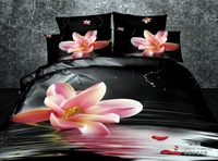 3D bedclothes cotton home textile Pink Narcissus bedding sets queen size 4pcs floral print duvet/comforter cover bed sheet set