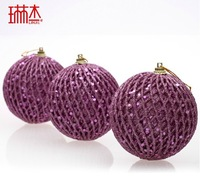 New Year 6cm christmas tennis ball christmas tree decoration ball Christmas ornament  Christmas tree decorating supplies