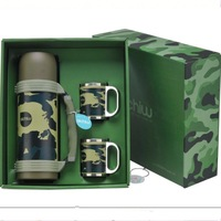 Mug Copos Termicos for Thermoses 304 Stainless Steel Insulation Water Cup Pot Military Outside Sport Camouflage Fadac Field Set