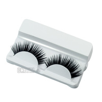 1 pair Handmade Fake False Eyelash Natural Look Transparent Stem Make Up Tools  Eye Lash