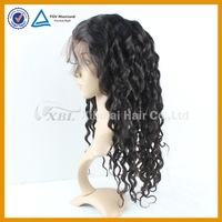 Peruvian hair 5A+ grade deep wave lace front wig
