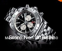 BRAND Men's B01 CHRONOMAT 44 AB0110 Black/Silver Pilot Bracelet Day & Date quartz Watches with famous brand watches #01